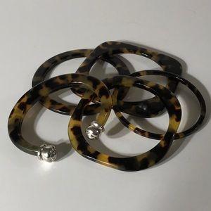 Jewelry - Vintage Vegan Tortoise Shell Bangles